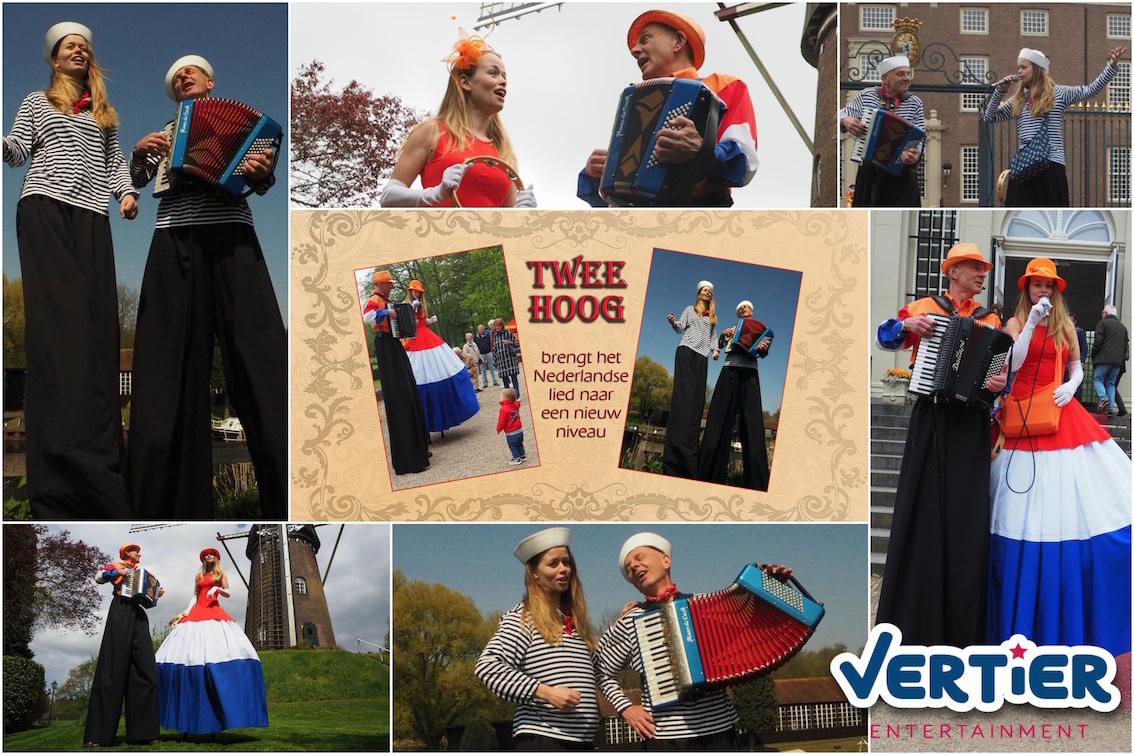 Uniek in Nederland: Live muziek en zang op stelten!